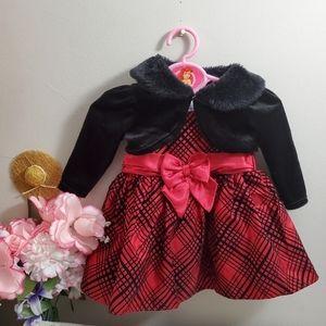 3pcs set George 0-3M Formal Dress